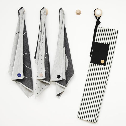 Cibo Apron in Black and White design by OYOY