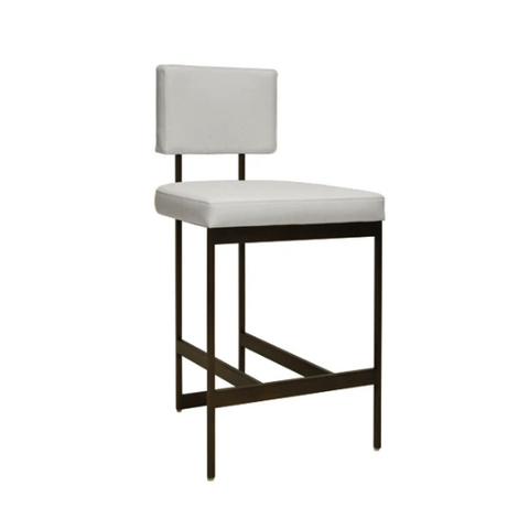 Modern Counter Stool with Bronze Base in Various Colors