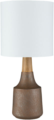 Kent Table Lamp in Camel & White design by Surya
