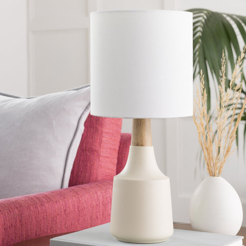 Kent Table Lamp in Ivory & White design by Surya