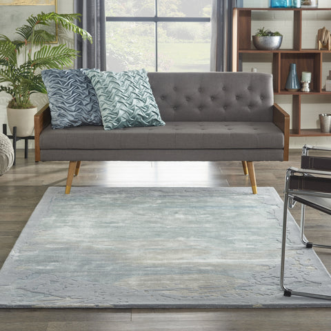 Prismatic Rug in Seafoam & Silver by Nourison