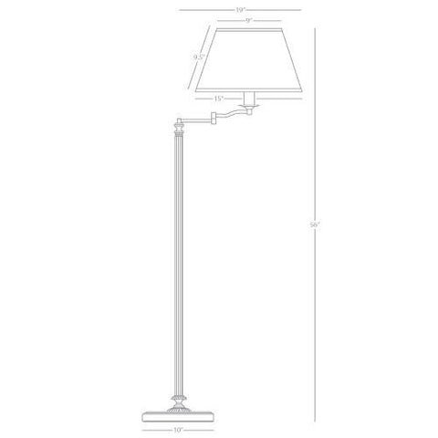 Abbey Bronze Swing Arm Floor Lamp by Robert Abbey