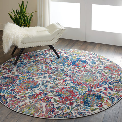 Ankara Global Rug in Ivory/Blue by Nourison
