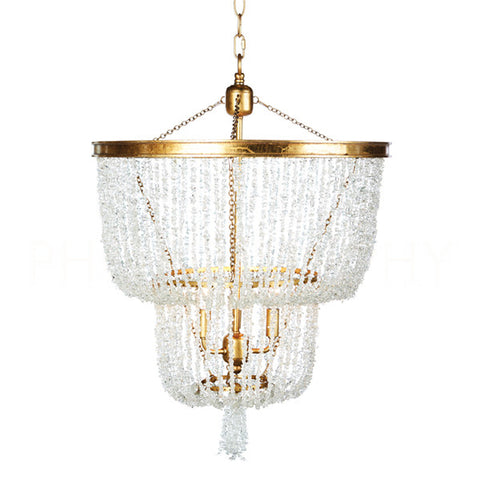 Stone River Crystal Two Tier Chandelier Design By Aidan Gray
