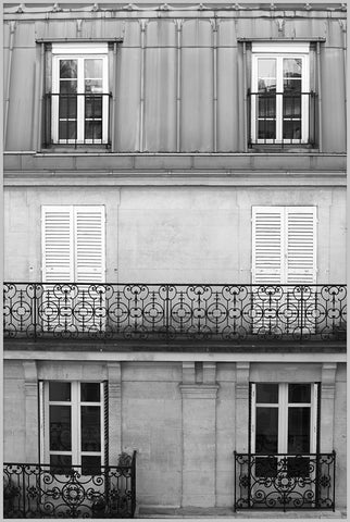 Shuttered Home Paris Wall Art in Various Frames design by Lillian August