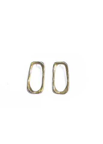Large Link Stud Earrings design by WATERSANDSTONE