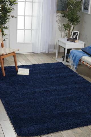 Amore Collection Shag Area Rug in Ink by Nourison