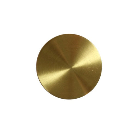 Lindhurst Flat Front, Convex Bottom Knob in Antique Brass design by BD Studio