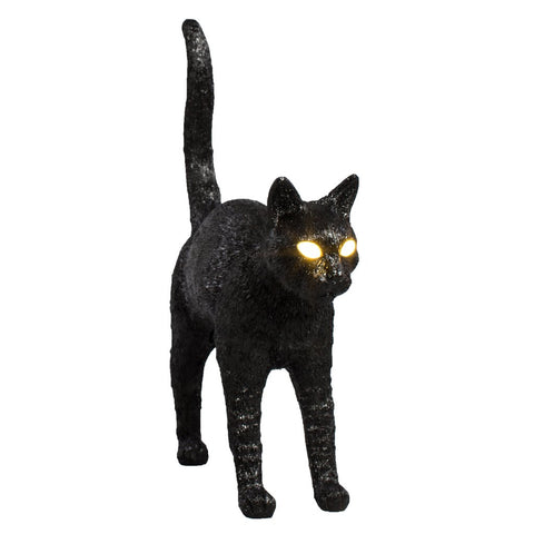 Felix Portable Cat Lamp in Black
