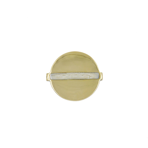 Brass Round Handle with Inset Resin in Various Sizes & Colors