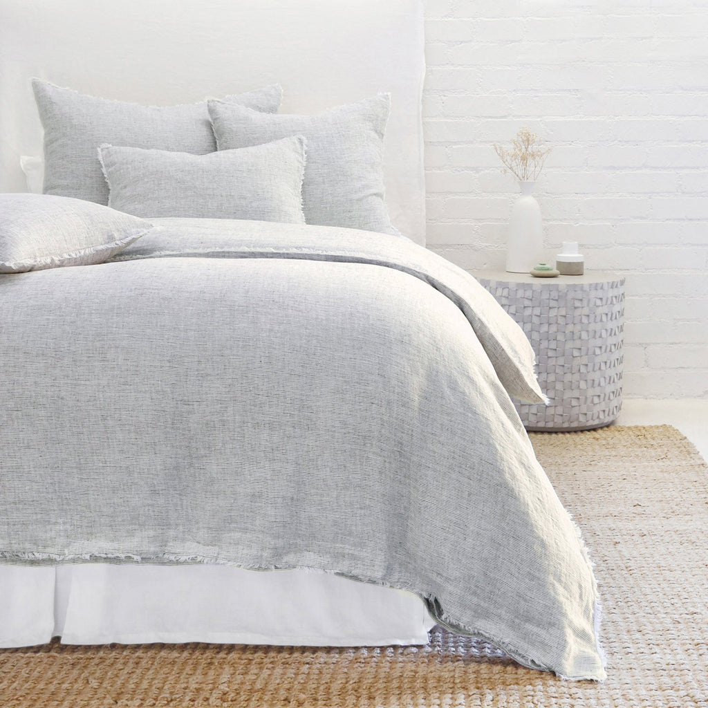 Logan Duvet and Shams in Navy by Pom Pom at Home