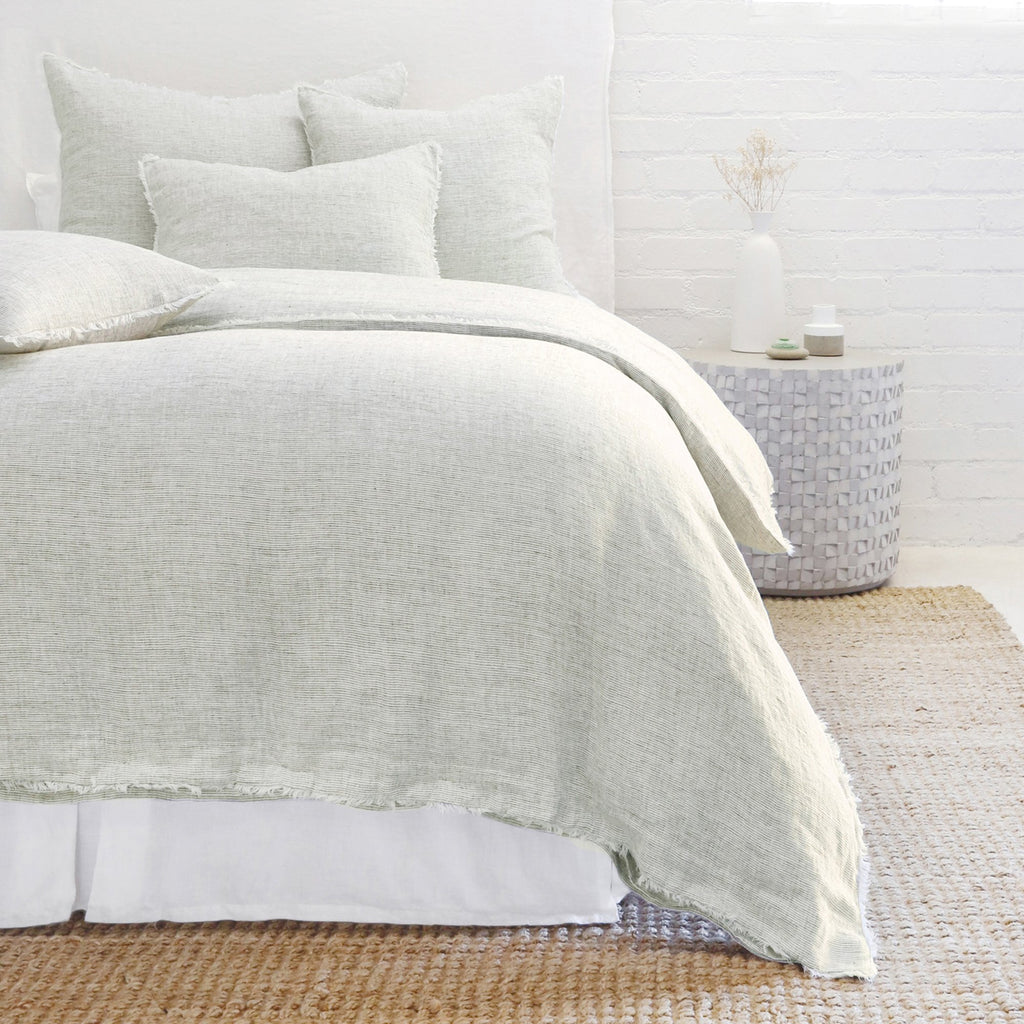 Logan Duvet and Shams in Olive by Pom Pom at Home