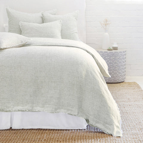 Logan Duvet and Shams in Olive