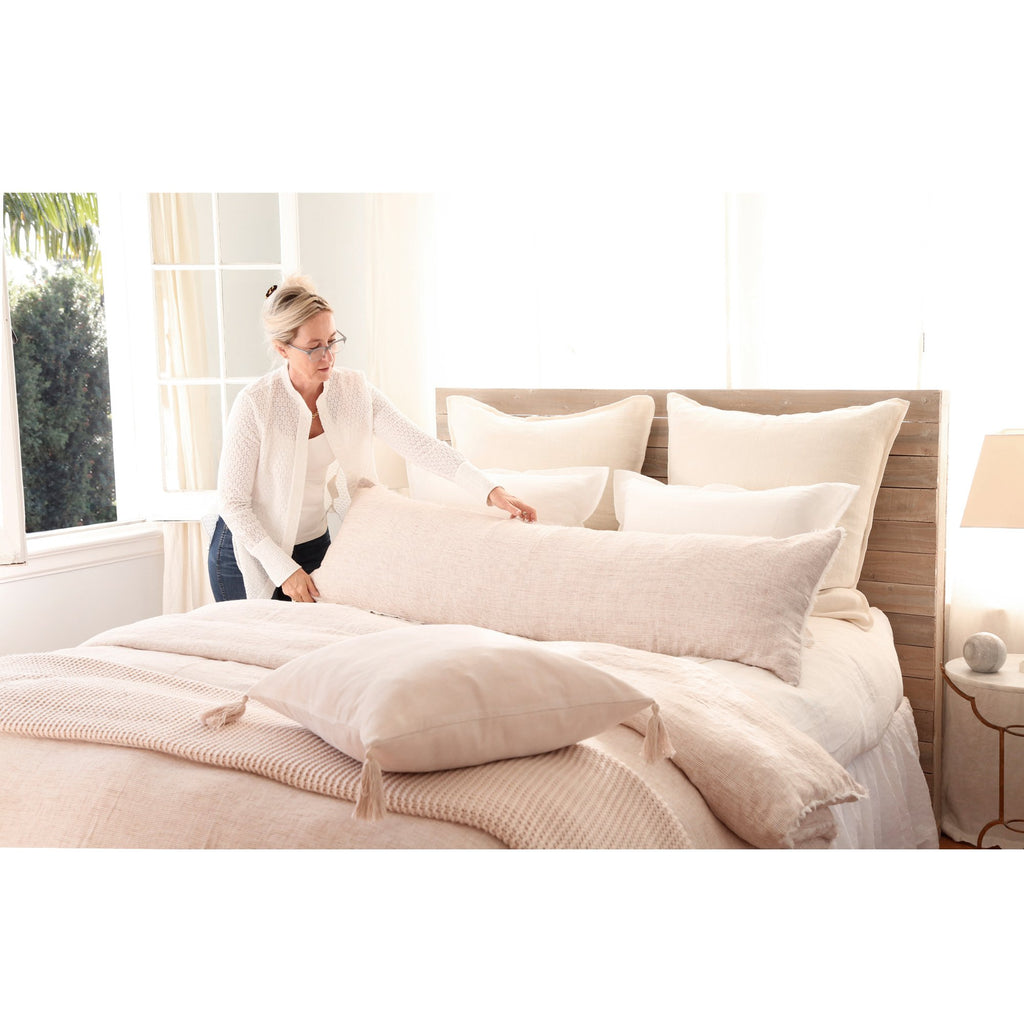 Logan Duvet and Shams in Terracotta by Pom Pom at Home