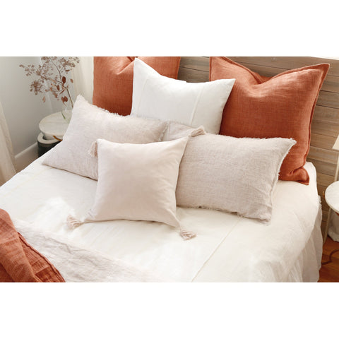 Bianca Square Pillow with Insert in multiple colors by Pom Pom at Home