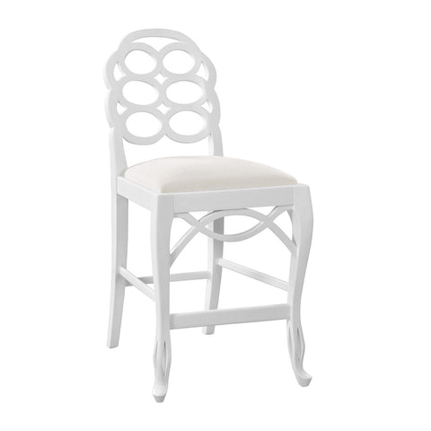 Loop Counter Stool in White by Bungalow 5