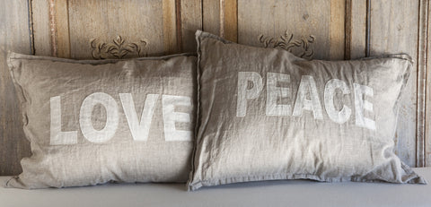 Love & Peace Pillows design by Pom Pom at Home