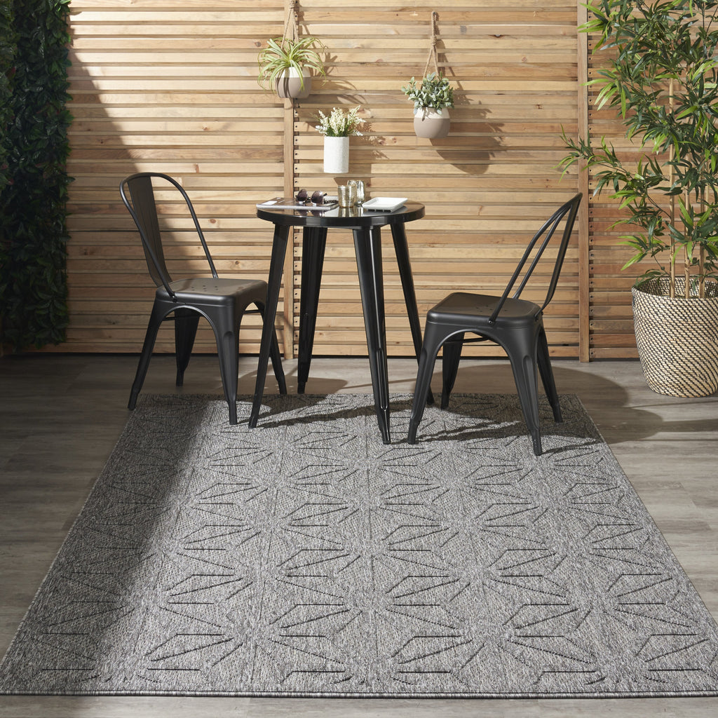 Cozumel Indoor-Outdoor Rug in Dark Grey by Nourison