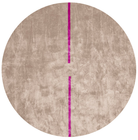 Lightsonic Hand Tufted Rug w/ Purple Stripe design by Second Studio