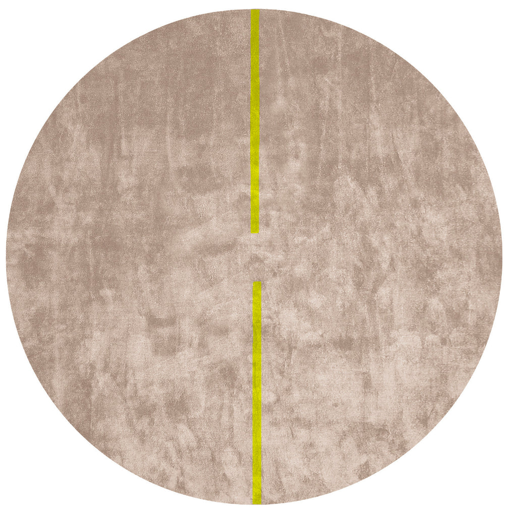Lightsonic Hand Tufted Rug w/ Yellow Stripe design by Second Studio