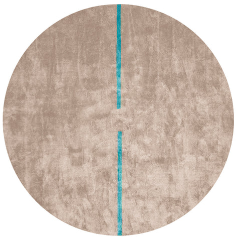 Lightsonic Hand Tufted Rug w/ Blue Stripe design by Second Studio