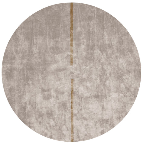 Lightsonic Hand Tufted Rug w/ Brown Stripe design by Second Studio
