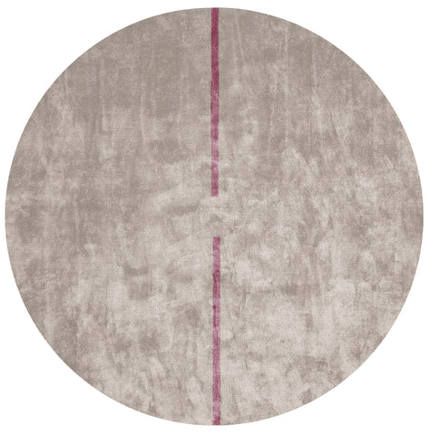 Lightsonic Hand Tufted Rug w/ Violet Stripe design by Second Studio