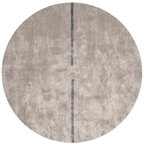 Lightsonic Hand Tufted Rug w/ Black Stripe design by Second Studio
