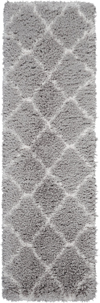 Luxe Shag Rug in Grey/Ivory by Nourison