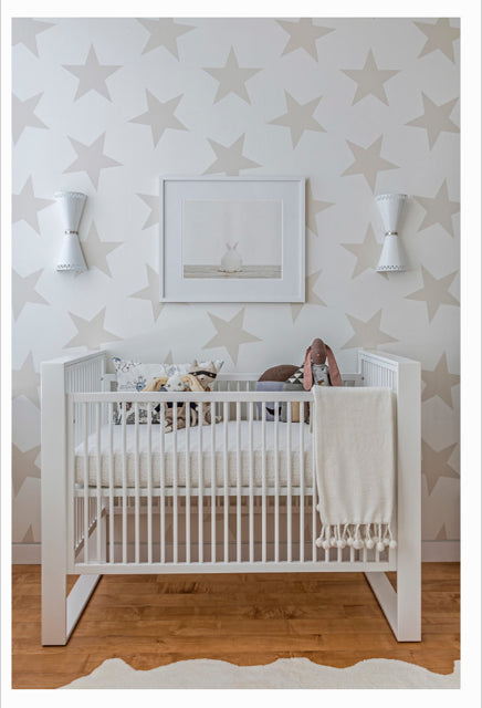Lucky Star Wallpaper in Rain by Sissy + Marley for Jill Malek