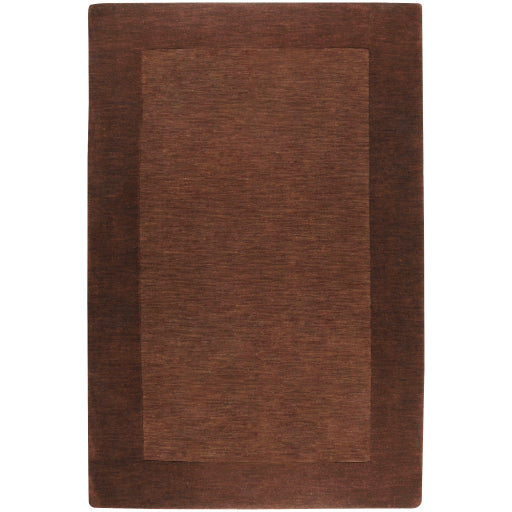 Mystique Collection Wool Area Rug in Dark Chocolate and Brown design by Surya