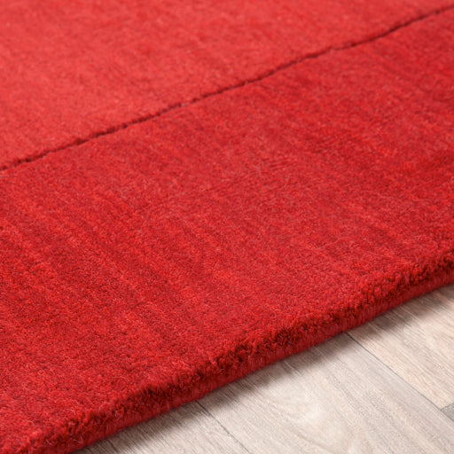 Mystique Collection Wool Area Rug in Carmine and Red design by Surya