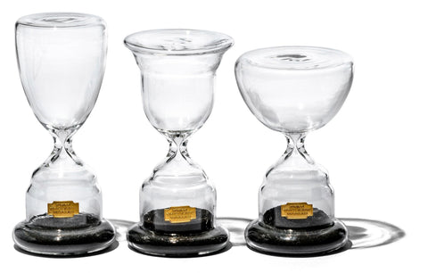 Trophy Shaped Sandglass Black NO.2 design by Puebco