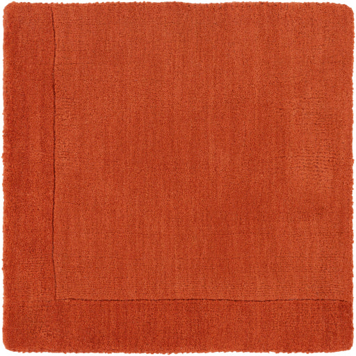 Mystique Collection Wool Area Rug in Rust Red and Terra Cotta