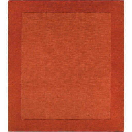 Mystique Collection Wool Area Rug in Rust Red and Terra Cotta design by Surya