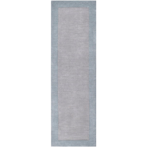 Mystique Collection Wool Area Rug in Slate Blue and Silvered Grey design by Surya
