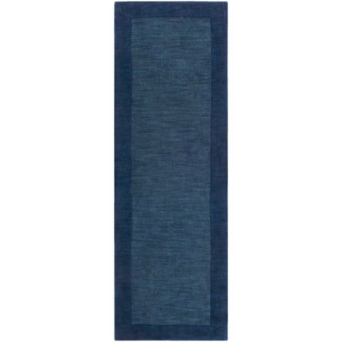 Mystique Collection Wool Area Rug in Midnight Blue and Ink design by Surya