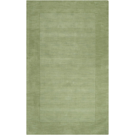Mystique Collection Wool Area Rug in Hunter Green and Aloe Vera design by Surya