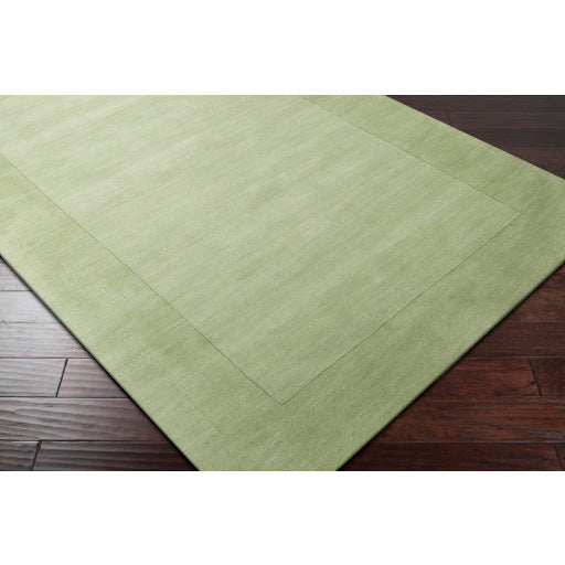 Mystique Collection Wool Area Rug in Hunter Green and Aloe Vera