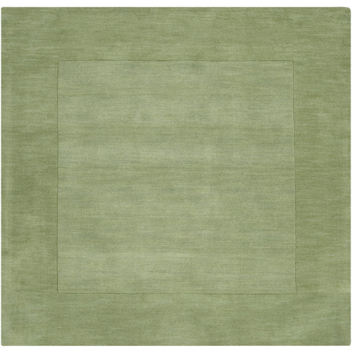Mystique Collection Wool Area Rug In Hunter Green And Aloe