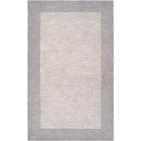 Mystique Collection Wool Area Rug in Elephant Grey design by Surya
