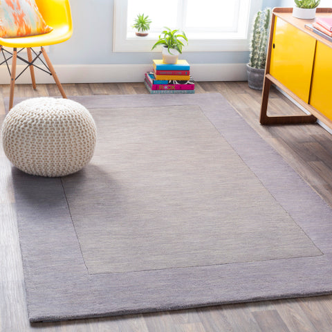 Mystique Collection Wool Area Rug in Elephant Grey