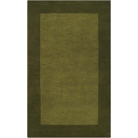 Mystique Collection Wool Area Rug in Pine Green design by Surya