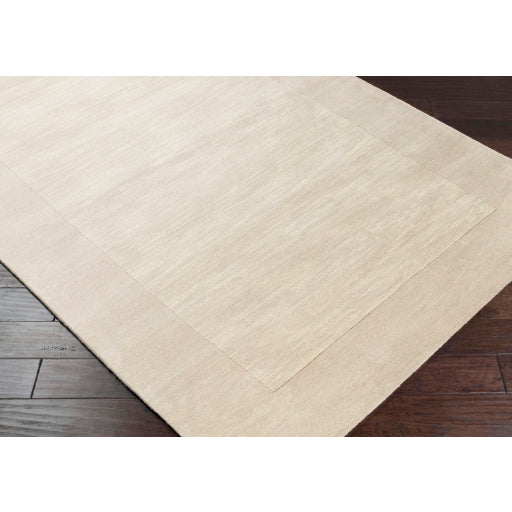 Mystique Collection Wool Area Rug in Parchment and Winter White