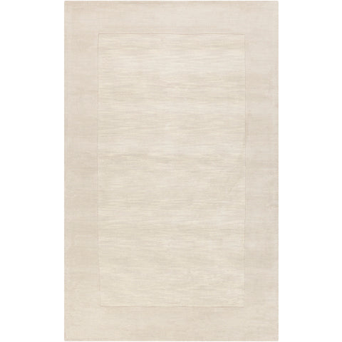 Mystique Collection Wool Area Rug in Parchment and Winter White design by Surya