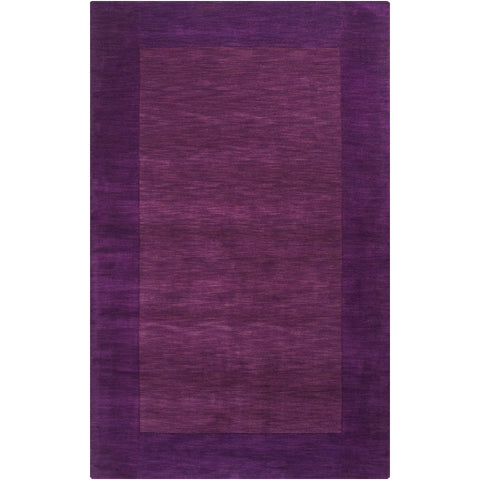 Mystique Collection Wool Area Rug in Aubergine and Dark Plum design by Surya