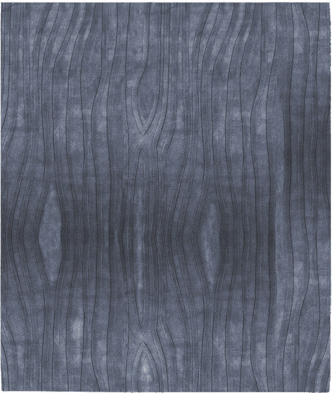Mazara Ale Lux Hand Tufted Rug in Dark Blue design by Second Studio