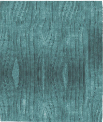 Mazara Ale Lux Hand Tufted Rug in Turquoise design by Second Studio