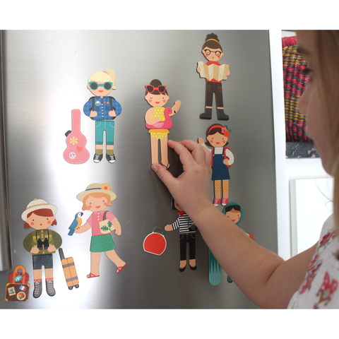 Magnetic Play Set Little Travelers by Petit Collage