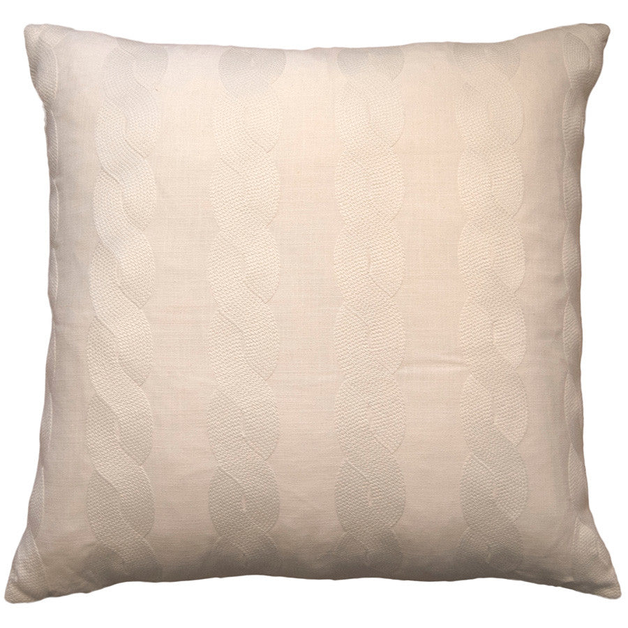 Malibu Linen Knit Pillow in various sizes design by Square feathers